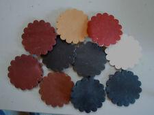 """lot 10) Alum Leather Concho 1 1/2"""""""