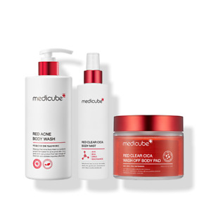 [Medicube] Red Acne Clear Cica Skin Body Line Set Exfoliating Wash Mist Care