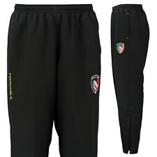 Leicester Tigers Kooga Men's Rugby Microfibre Track Pants - Black - New