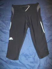 womens ladies stretch running gym Sports short leggings size uk 8 KAlenji Grey