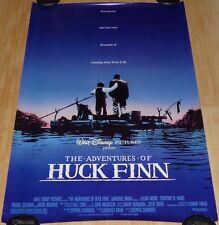 THE ADVENTURES OF HUCK FINN 1993 ORIG 1 SHEET MOVIE POSTER DISNEY ELIJAH WOOD