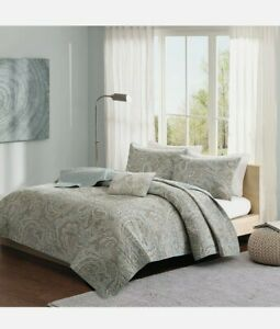 Ronan 4 Piece Cotton Comforter Set Blue/Multi-Color New