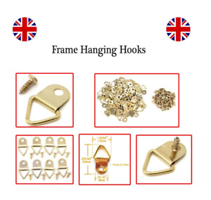 20 x Picture Frame Hooks Frame Hanging Triangle D Ring Hangers Mirror Frame Ring
