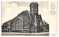 Early 1900s First Methodist Episcopal Church & Parsonage Moundsville WV Postcard