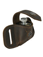 New Barsony Brown Leather Belt Loop Single Speed Loader Pouch .22 .38 .357