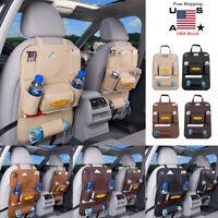 Car Back Seat Protector Multi Pocket Storage Phone Tablet Cup Holder Organizer