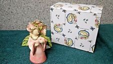 Country Rose Angel candle holder & bell ornament a Clayworks from Blue Sky by He