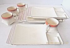 "VINTAGE 1930 - 40's JAPAN ""H"" HOTTA YU SHOTEN - 4 LUNCH / BENTO CUP & PLATE SETS"