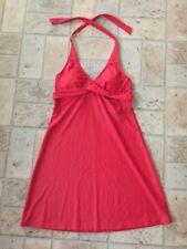 Athleta Tara Halter Swim Dress in Saffron Red Sz 36 B/C NO ATTACHED PANTY