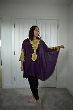 Morrocan kaftan lagen look bohemian lace embroidered tunic dress  M to XXXXL
