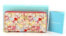 New Disney Samantha Thavasa Alice in Wonderland Large Zippy Wallet - Usa Seller