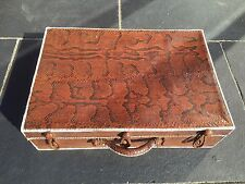 Magnificent Antique 1920s Art Deco Python Snake Skin Suitcase Vintage Luggage