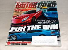 Motor Trend December 2013 Car Truck Magazine Ferrari F12 Corvette C7 Porsche 911
