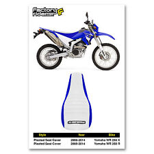 2008-2014 YAMAHA WR 250 X & R Blue/White PLEATED SEAT COVER BY Enjoy MFG