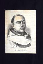 Il missionario padre Giacinto da Belmonte Incisione del 1870