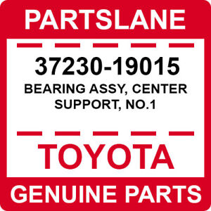 37230-19015 Toyota OEM Genuine BEARING ASSY, CENTER SUPPORT, NO.1