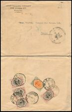 MIDDLE EAST 1920, NICE FRANKING COMMERCIAL CENSORED COVER TO T.BRIZ.    #N315