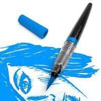 Pentel Colour Water Brush Pens - Refillable, Calligraphy, Manga - 12 Colours