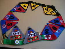 Bespoke handmade superheros bunting decoration spiderman batman gift bedroom NEW