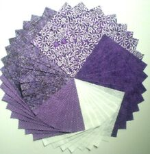 """40 - 5"""" Purple Quilt Fabric Squares Sewing Charm Pack Quilt Blocks 369"""