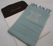Celine Scarf Wool & Cashmere New Baby Blue Italian 1NS