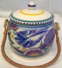 POOLE POTTERY TRADITIONAL PB BLUEBIRD PATTERN BISCUIT BARREL OR JAR - HILDA TRIM