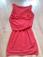"""ZARA EVENING HOT RED KNEE LENGTH SHIFT DRESS SIZE M 12-14 BUST 40"""""""