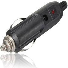 Male Charging Plug Car Cigarette Connector Plug Red LED 12V/24V