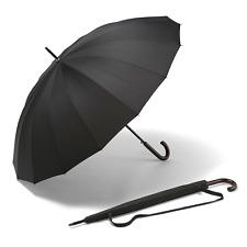 Mens grande paraguas a prueba de viento y Stormproof Auto Abierto para Hombre para Mujer Negro K-pop