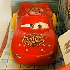 Red Disney/Pixar Cars MATTEL Bubble Spin out Lightning Mc Queen Bath Vehicle