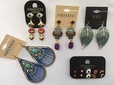 NWT Wholesale A lot 9 pairs Forever 21 rhinestone teardrop chandelier earrings