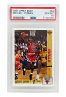 Michael Jordan (Bulls) 1991 Upper Deck Basketball #44 Card - PSA 10 (New Label)