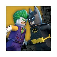 confezione da 16 LEGO BATMAN FILM Tovaglioli pranzo 33cm DC festa di compleanno