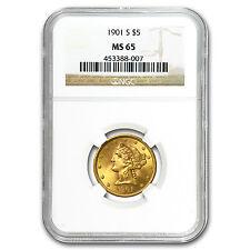 $5 Liberty Gold Half Eagle MS-65 NGC - SKU #23206