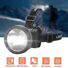 USA Stock Led Headlight Headlamp Flashlight Head Camping Hiking Light Lamp Torch