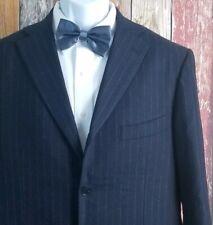 Isaia Napoli Wool Cashmere Blend Chalkline Stripe 2 Piece Suit 42R Regular 36x33
