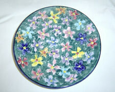Arte Creta Hand Painted Floral Plate Made in Italy