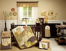 Nursery Crib Bedding Set 7-Pc Baby Lion King Comforter Sheets Skirt Wall Decor