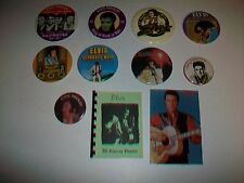 ELVIS PRESLEY (9) Pinback Buttons Pins (1) Glossy Photos Booklet (1) RCA Promo