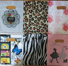 """100 bolsas de plástico de moda tienda de regalos-Impreso fuerte Regalo o bolsas de 8"""" X 6"""""""