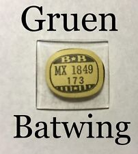 NOS Rare Vintage Gruen Curvex Batwing Wrist Watch Glass Crystal Antique