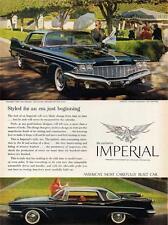 Old Print. 1960 Imperial Custom 4-Door Southampton Auto Advertisement