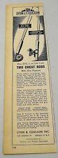 1948 Print Ad Lyon Coulson Imperial Fishing Rod,Beaudex,Ambidex Reels Buffalo,NY