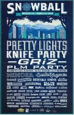 PRETTY LIGHTS GRIZ KNIFE PARTY SNOWBALL 2014 DENVER COLORADO CONCERT POSTER