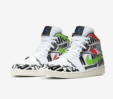 4f60bc4a23db06 Air Jordan 1 Mid Retro Logos All Over Off White Mens Size 13 Basketball  Shoes