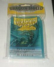 Dragon Shield Sleeves: Turquoise (50) - Mini Size Yu Gi Oh Sized Sealed Packs