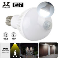 E27 LED Motion Sensor Light Bulb Motion Activated Dusk To Dawn Indoor/Outdoor