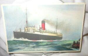 R.M.S. Lancastria Cunard Liner  ARTIST DRAWN  Postcard c2