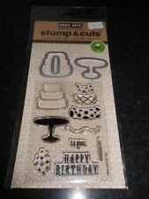 "Hero arts stamp & cut ""joyeux anniversaire"" matching meurt et stamp set"