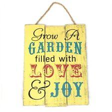 Rustic Wood Garden Sign Home Decor Grow a Garden Filled with Love Farmhouse